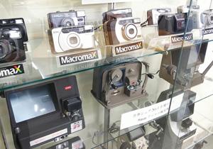 世界一記録の8ミリ編集機やコンパクトカメラ等歴史的製品も展示